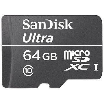SANDISK Ultra microSDXC, UHS-I, Class 10, 64GB (SDSQUNC-064G-GN6IA)