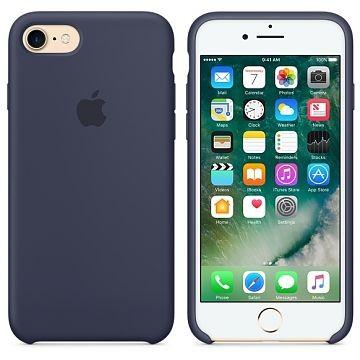 APPLE iPhone 8 Silikonhülle, Mitternachtsblau (MQGM2ZM/A)