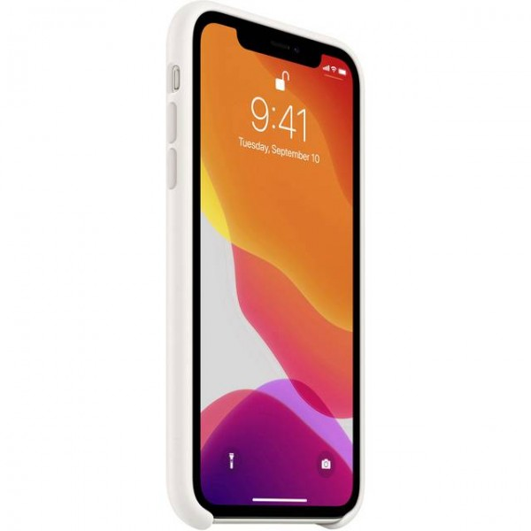 iPhone 11 Silikon Case, Weiss (MWVX2ZM/A)