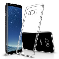 Samsung Galaxy S8 Silikon Case, Hülle Transparent