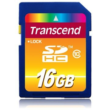 TRANSCEND SDHC Secure Digital Card, Class 10, 16GB (TS16GSDHC10)