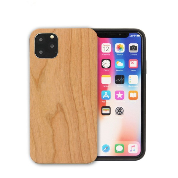 iPhone 11 Eco Case Slim Echt Holz Hülle Cherry / Kirschaum