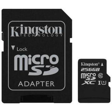 KINGSTON microSDXC, Class 10, UHS-I, 256GB (SDC10G2/256GB)