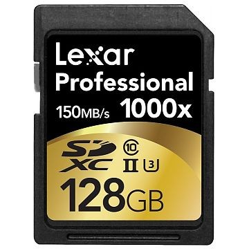 LEXAR Professional 1000x SDXC, UHS-II, 128GB (LSD128C1000)
