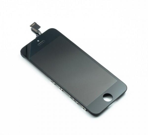 iPhone 5c Ersatzdisplay Schwarz (Digitizer, LCD, Rahmen)