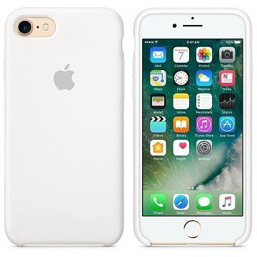 APPLE iPhone 8 Silikonhülle, Weiss (MMWF2ZM/A)