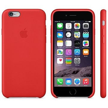 APPLE iPhone 6 Lederhülle, Rot (MGR82ZM/A)