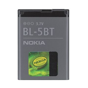 NOKIA BL-5BT 870mAh, Li-Ion Akku , für 2600 Classic / 7510 Supernova