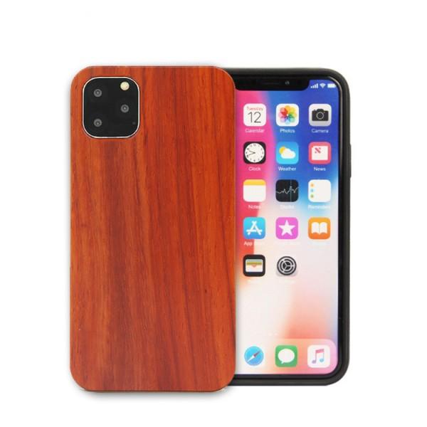 iPhone 11 Eco Case Slim Echt Holz Hülle Mahagoni