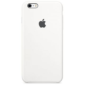 APPLE iPhone 6S Plus Silikonhülle, Weiss (MKXK2ZM/A)