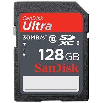 SANDISK Ultra SDXC, UHS-I, Class 10, 128GB (SDSQUNC-128G-GN6IA)
