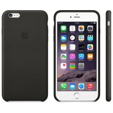 APPLE iPhone 6 Plus Lederhülle, Schwarz (MGQX2ZM/A)