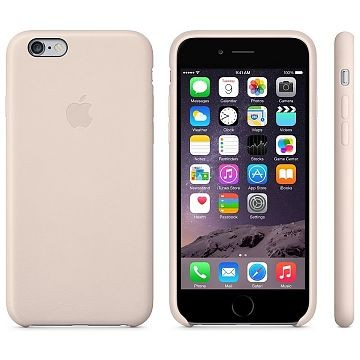 APPLE iPhone 6 Lederhülle, Soft Pink (MGR52ZM/A)