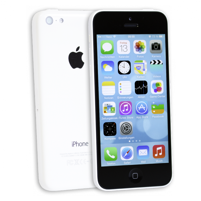 apple iphone 5c 8gb weiss white ielectro. Black Bedroom Furniture Sets. Home Design Ideas