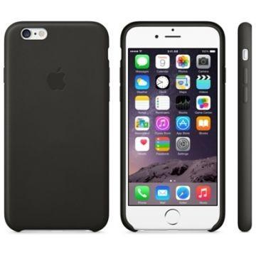 APPLE iPhone 6 Lederhülle, Schwarz (MGR62ZM/A)
