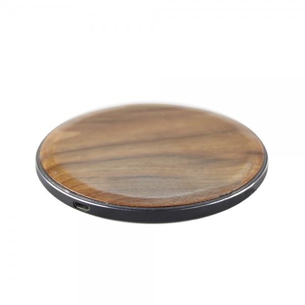 Induktionsladegerät Wireless Fast Charger Ladestation 10W aus Holz u.a für iPhone / Samsung
